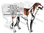 Borzoi Dog Yard Art Woodworking Pattern, Borzoi,dogs,pets,animals,yard art,painting wood crafts,scrollsawing patterns,drawings,plywood,plywoodworking plans,woodworkers projects,workshop blueprints