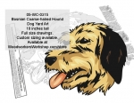 Bosnian Coarse-haired Hound Dog Yard Art Woodworking Pattern, Bosnian Coarse-haired Hound,dogs,pets,animals,yard art,painting wood crafts,scrollsawing patterns,drawings,plywood,plywoodworking plans,woodworkers projects,workshop blueprints
