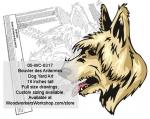 Bouvier des Ardennes Dog Yard Art Woodworking Pattern