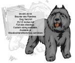 Bouvier des Flandres Dog Yard Art Woodworking Pattern