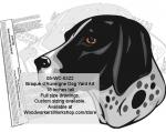 Braque d'Auvergne Dog Yard Art Woodworking Pattern
