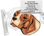 Braque Saint-Germain Dog Yard Art Woodworking Pattern