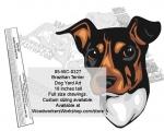 Brazilian Terrier Dog Yard Art Woodworking Pattern