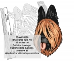 Briard Dog Yard Art Woodworking Pattern woodworking plan