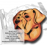 Broholmer Dog Yard Art Woodworking Pattern woodworking plan