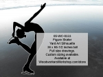 05-WC-0333 - Figure Skater Silhouette Yard Art Woodworking Pattern