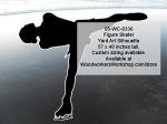 05-WC-0336 - Figure Skater Silhouette Yard Art Woodworking Pattern