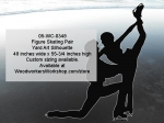 05-WC-0348 - Figure Skating Pair Silhouette Yard Art Woodworking Pattern
