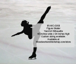 05-WC-0350 - Figure Skater Silhouette Yard Art Woodworking Pattern
