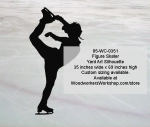 05-WC-0351 - Figure Skater Silhouette Yard Art Woodworking Pattern