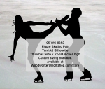 05-WC-0352 - Figure Skating Pair Silhouette Yard Art Woodworking Pattern