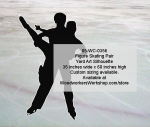 Figure Skating Pair Silhouette Yard Art Woodworking Pattern