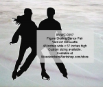 05-WC-0357 - Figure Skating Dance Pair Silhouette Yard Art Woodworking Pattern