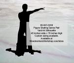 Figure Skating Dance Pair Silhouette Yard Art Woodworking Pattern