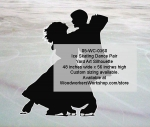 05-WC-0360 - Ice Skating Dance Pair Silhouette Yard Art Woodworking Pattern