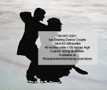 Ice Skating Dance Couple Silhouette Yard Art Woodworking Pattern