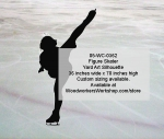 05-WC-0362 - Figure Skater Silhouette Yard Art Woodworking Pattern