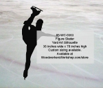 05-WC-0363 - Figure Skater Silhouette Yard Art Woodworking Pattern