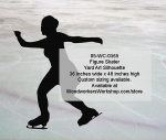05-WC-0365 - Figure Skater Silhouette Yard Art Woodworking Pattern