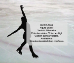 05-WC-0366 - Figure Skater Silhouette Yard Art Woodworking Pattern