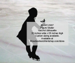 05-WC-0367 - Figure Skater Silhouette Yard Art Woodworking Pattern