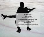 Figure Skating Pairs Silhouette Yard Art Woodworking Pattern