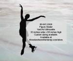 05-WC-0369 - Figure Skater Silhouette Yard Art Woodworking Pattern
