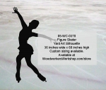 05-WC-0370 - Figure Skater Silhouette Yard Art Woodworking Pattern