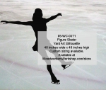 05-WC-0371 - Figure Skater Silhouette Yard Art Woodworking Pattern