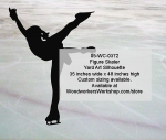 05-WC-0372 - Figure Skater Silhouette Yard Art Woodworking Pattern