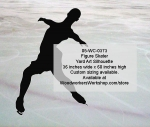 05-WC-0373 - Figure Skater Silhouette Yard Art Woodworking Pattern