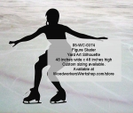 05-WC-0374 - Figure Skater Silhouette Yard Art Woodworking Pattern
