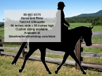 05-WC-0375 - Horse and Rider Silhouette Yard Art Woodworking Pattern