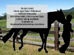 Horse and Rider Silhouette Yard Art Woodworking Pattern