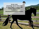 Equestrian Silhouette Yard Art Woodworking Pattern woodworking plan