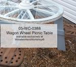 Country Roundup Wagon Wheel Picnic Table Woodworking Pattern woodworking plan