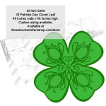 St Patricks Day Clover Leaf Yard Art Woodworking Pattern woodworking plan