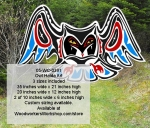 05-WC-0391 - Owl Haida Art Pattern