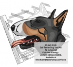 Bull Terrier Dog Yard Art Woodworking Pattern, Bull Terriers,dogs,yard art,painting wood crafts,scrollsawing patterns,drawings,plywood,plywoodworking plans,woodworkers projects,workshop blueprints