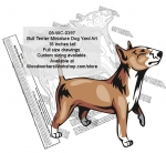 Bull Terrier Miniature Dog Yard Art Woodworking Pattern woodworking plan
