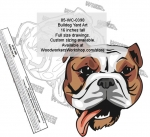 Bulldog Dog Yard Art Woodworking Pattern.