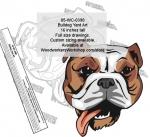 Bulldog Dog Yard Art Woodworking Pattern.