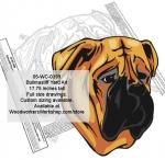 Bullmastiff Dog Yard Art Woodworking Pattern