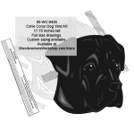 Cane Corso Yard Art Woodworking Pattern woodworking plan