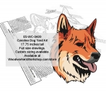 Carolina Dog Yard Art Woodworking Pattern