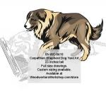 Carpathian Shepherd Dog Yard Art Woodworking Pattern