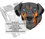 Catahoula Cur Hound Dog Yard Art Woodworking Pattern