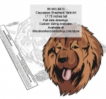 Caucasian Shepherd Dog Yard Art Woodworking Pattern woodworking plan