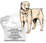 Central Asian Shepherd Dog Yard Art Woodworking Pattern