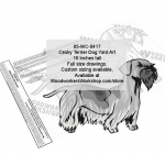 Cesky Terrier Dog Yard Art Woodworking Pattern woodworking plan